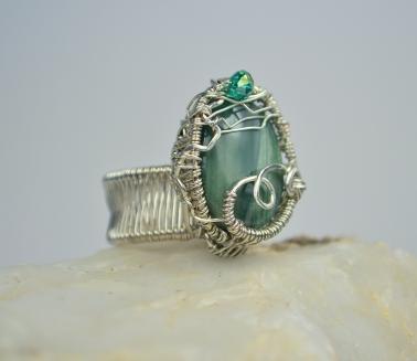 Imperial Jasper Weave Ring